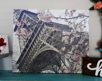 Springtime in Paris, Eiffel Tower, La Tour Eiffel Gallery Canvas Wrap