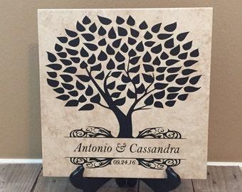 Name Tile, Family Name, Wedding, Wedding Gift, Anniversary Gift, Bridal Shower, Name Sign, Personalized Gift, Bridal Shower, Bride Gift