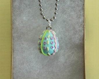 Easter Eggs (Blue, Green, Pink, Purple, Yellow)//Keychain//Polymer Clay Charm//Handmade//Easter Gift