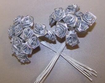 Silver Ribbon Craft Rose