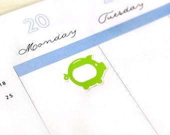 Savings Tracker Sticker, 28 Piggy Bank money tracking decals, rainbow colors, for Erin Condren, Kikki K, Plum Paper, eclp, neutral, custom