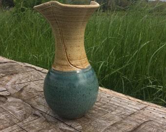 Ceramic Vase // Teal vase // Neutral Vase // Handmade vase // J Stewart Pottery