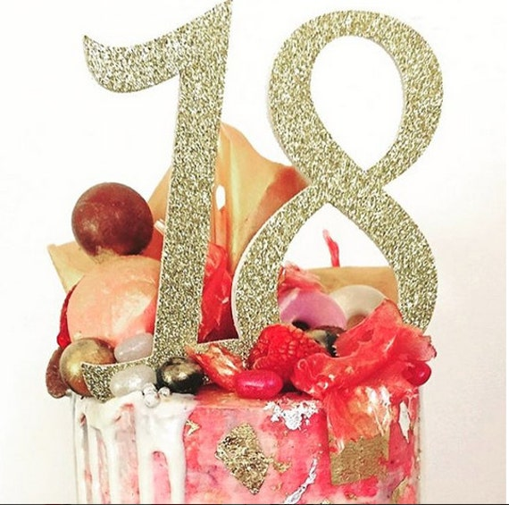 18th Birthday Cake Topper. Party Decorations. 18th