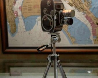 Lighting lamps . Pallard bolex movie camera lamp. Upcycled lamp. Vintage cameras