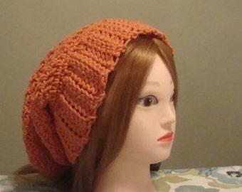Slouchy Hat, Slouchy Beanie, Woman's crochet hat, Oversized Slouchy Beanie, Slouch Hat, Orange slouch hat, Orange Slouchy Beanie