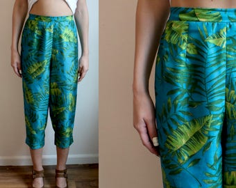 High waisted Palm Print Pant