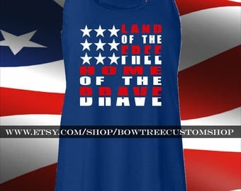 Land of the Free Home of the Brave Tank Top