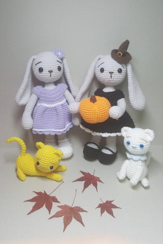 Amigurumi Bunny In Dress : crochet amigurumi pattern Purple dress bunny from MKRHO on ...