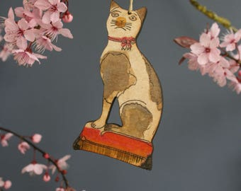 Cat hanging decoration
