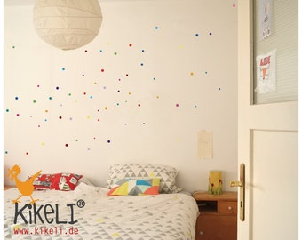 Wall decals confetti points tile decals window decals
