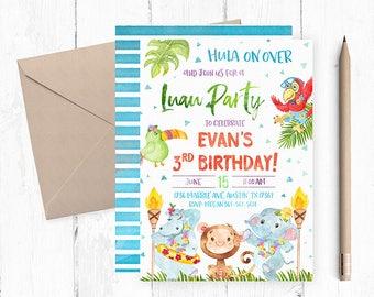 Luau Birthday Invitations, Luau Birthday Invitation, Luau Birthday Party, Luau Invites, Luau Invite, Hawaiian Invites, Hawaiian Invitations,