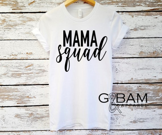 Mama Squad  T-Shirt / Pregnancy announcement / Gender reveal / Mom shirt /