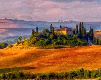 Italy photography, Tuscany photography, Belvedere House photo, Tuscany landscapes, Wall Art photography, Fine Art Photo,