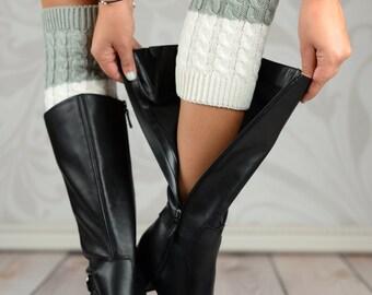 Gray Reversible Boot Cuffs