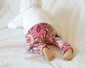 baby leggings, girl leggings, floral pants, floral print leggings, paisley pants, floral leggings, paisley leggings, newborn leggings