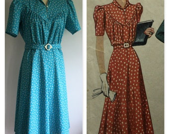 "1940's Vintage Reproduction Dress, Bust 40"" - 42 """