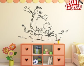 Calvin U0026 Hobbes Wall Decal Kids Boy Girl Nursery Room Sticker Design, Wall  Mural, Part 73