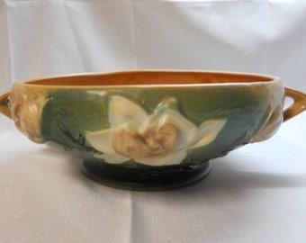 "Roseville pottery bowl - Magnolia? - S-10"" - USA"