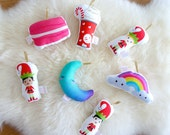 READY-TO-SHIP Kids Plush Christmas Ornaments Stocking Stuffers Plush Holiday Gifts Elf Xmas Tree Decor