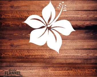 Hawaiian Hibiscus Flower - Car Decal, laptop decal, window decal- BF-D1074