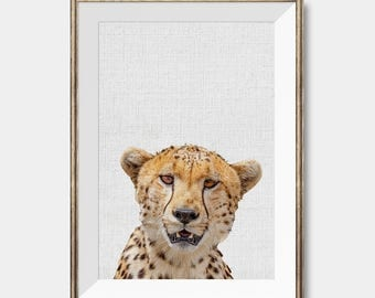 Cheetah Print Art, Cheetah Photo Print, Cheetah Printable Art, Safari Animal Print, Nursery Decor, Boys Room Wall Art,Kids Room Decor, Large