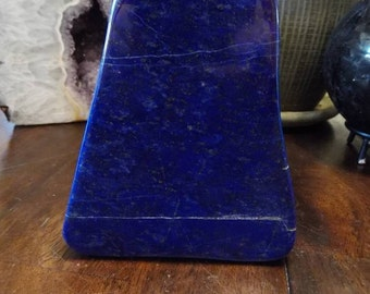 Deep Blue Polished Lapis Lazuli  Freeform from Afghanistan   Lapis Paper Weight   Home Decor   Healing Crystal   Mineral Specimen #12