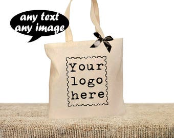50 LOGO TOTE BAGS, Personalised Business bags, Any text bags, Any image bags, Brand bags, My logo bags, Custom shopping bag, Advertising bag