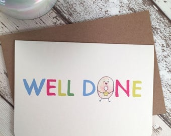 Cute Well Done Card with Doughnuts