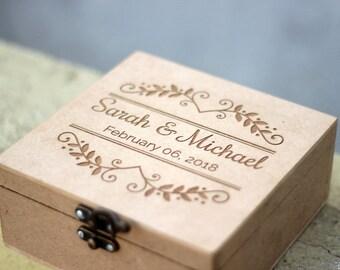 Bridesmaid Box Set, Personalized Wood Box, Engraved Box, Custom Wedding Card Box, Keepsake Box, Wedding Letter Box,  Man Valet Box, CigarBox