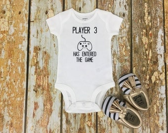 Player 3 Has Entered The Game, Pregnancy Announcement, Baby Gamer, Gifts for Gamers, Video Game Baby