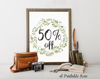 Coupon Code: 50OFF5 for 50% Off on Purchase of 5 dollars or more. wall art, printables, printable gifts, printable cards, for her, him
