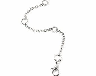 Necklace Extender, Adjustable, Removable Necklace Extender, Silver Necklace Extender, Chain Extender Clasp, Necklace Chain Extenders
