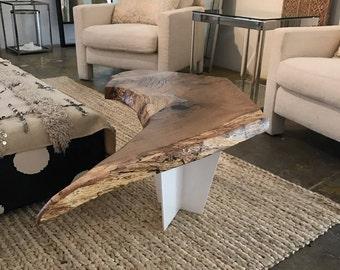 Live Edge Coffee Table + Coffee Table + End Table + Live Edge Table + Oak