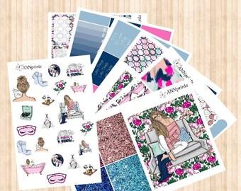 AP040 Me time weekly planner stickers erin condren happy planner