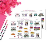 Printed Sticker Sheet - Circuit Overseer Visit - Reminder Sticker Variety Pack - Style 096