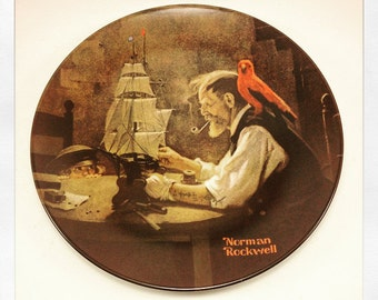 Norman Rockwell The Ship Builder Plate Four In Rockwell Heritage Collection