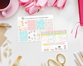 Spring Fling Weekly Sticker Kit - Set of 39 Planner Stickers perfect for Erin Condren Life Planner, Kikki K or Filofax Planner and more...