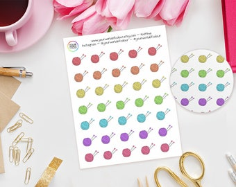 Knitting Planner Stickers, For Erin Condren, Happy Planner, Kate Spade, Plum Paper, Filofax, TN and more, Crafts, Sewing, Knit, Wool