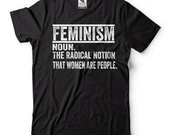 Feminism Definition Women's March  T-shirt Feminist T-shirts