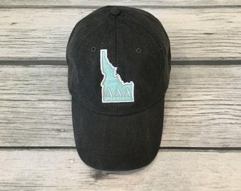 Tri Delta Hat, Tri Delta, Delta Delta Delta, Tri Delta Gift, Tri Delta Clothing,  Idaho Hat, Tri Delta Idaho, Idaho, Delta Delta Delta Hat
