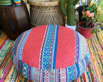 Unfilled Large Free Spirit Floor Cushion Cover, Made in Australia, Boho Chic, Fabric Pouffe, Floor Seating, Meditation Cushion, Pouf