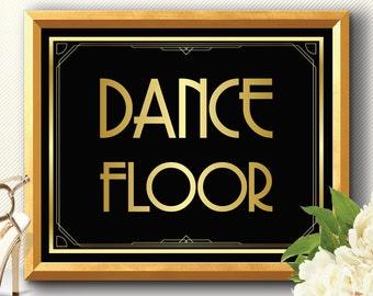 DANCE FLOOR, art deco dance floor, Great Gatsby dance floor, wedding dance floor, party dance floor, gatsby dance floor, dance floor sign
