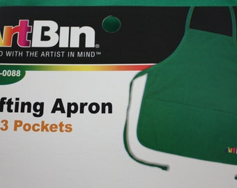Apron With Pockets Green Crafting Apron By Art Bin Decorate Your Own Apron