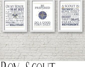 Boy Scout Oath, Law, Motto, Slogan Digital Prints