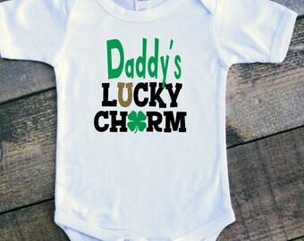 Daddy's lucky charm girl bodysuit toddler tshirt