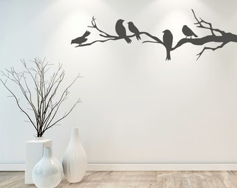 Birds on Branch Wall Decal