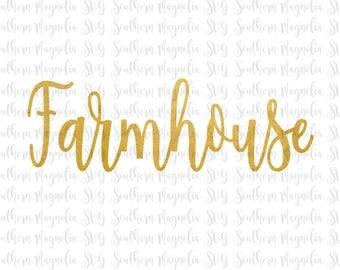 Farmhouse SVG - Country - Farm - Bakery - Farm Fresh - Kitchen - Chicken - Eggs - Eat - Gather - DIY - Wooden Sign - Cut File - SVG Design