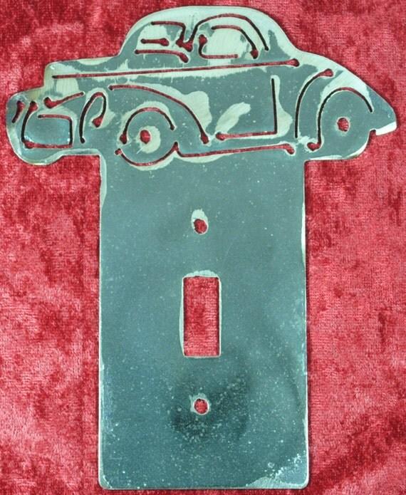 1941 Willys Hot Rod Light Switch Cover Plate, Light Switch Cover, 1941 Automobile Memorabilia, Racing Car, 1941 Memorabilia, Automotive Art