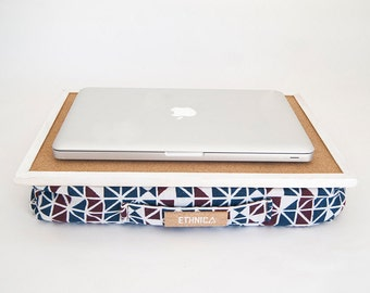 Laptop Tray With Pillow / Eco Friendly Lap Desk With Pillow / Serving Tray / Laptop Cushion / Lapdesk / Ergonomic Laptop Desk / Laptop Table