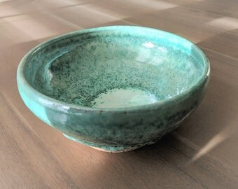 Green Ceramic Bowl, Stoneware Serving Bowl, Handmade Pottery Green Gloss Pasta Bowl